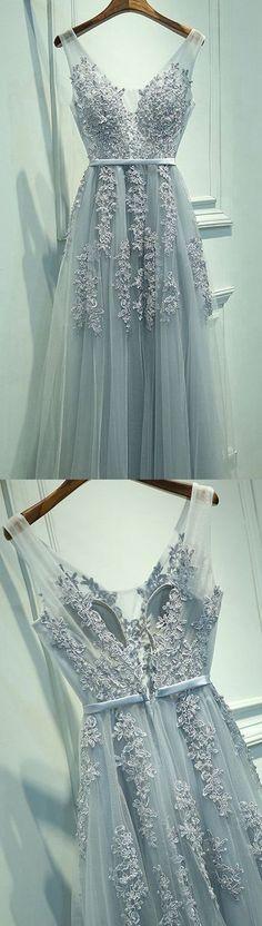 2017 New Appliqued Long Prom Dress
