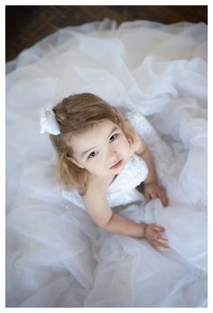 This is where I am supposed to describe this photo, but a picture is - Motherhood & Child Photos Little Girl Wedding Dresses, Baby In Wedding Dress, Wedding Dress Pictures, Flower Girl Dresses, Little Girl Photography, Photography Ideas, Celina Texas, Little Girl Photos, Baby Girl Photos