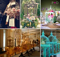 Vintage birdcages are beautiful by themselves and with candles or flowers they become stunning centerpieces. Description from blog.glendaloughmanor.com. I searched for this on bing.com/images