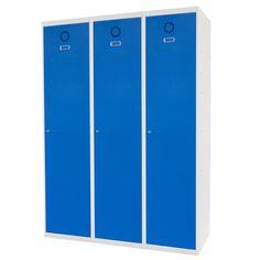 Taquilla metálica modular económica ECOV-40/3, de tres cuerpos y una puerta