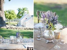 Beautiful table settings for a wine country wedding