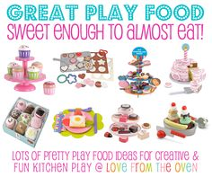 Yesterday I shared some of the amazing play kitchens that I have found while looking for a toy kitchen to either buy or DIY for our youngest daughter. I am so amazed at how toys have changed in the seven years between my two girls. My oldest had a few pieces of pretend plastic food click to read more