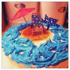 Vinny's beach birthday cake