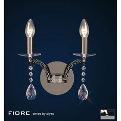 Diyas Fiore Double Wall Light - W.