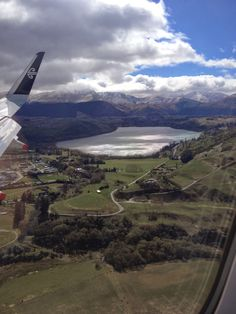 Queenstown, New Zealand as seen from the air.