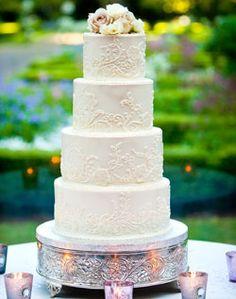 WeddingChannel Galleries: Classic White Wedding Cake