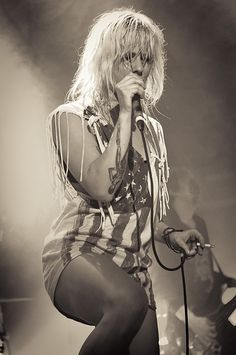 Maja Ivarsson.  This gal can rock, so glad I saw her and The Sounds live!