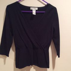 Nine West 3/4 sleeve sweater Gently, barely used. No flaws or pilling. Nine West Sweaters Crew & Scoop Necks