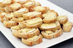 recipe for super easy and delicious BOBs (brie on bread) from @janemaynard