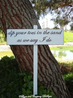 BeaCH WeDDinG SiGn  DiReCTioNaL WeDDiNg SiGn  by lizzieandcompany