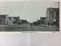 Early 1900s Looking West, Hudson, SD postcard