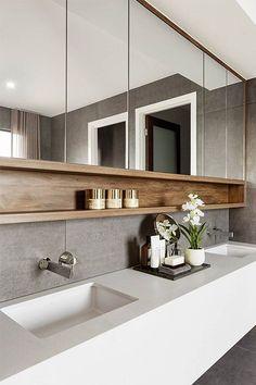 55 Stunning Farmhouse Bathroom Mirror Design Ideas And Decor - . 55 Stunning Farmhouse Bathroom Mirror Design Ideas And Decor - Always aspired. Farmhouse Bathroom Mirrors, Bathroom Mirror Design, Bathroom Renos, Modern Bathroom Design, Bathroom Styling, Bathroom Interior Design, Bathroom Renovations, Bathroom Ideas, Bath Ideas