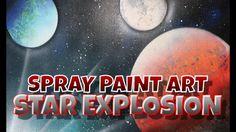 Spray Paint Art: Star Explosion