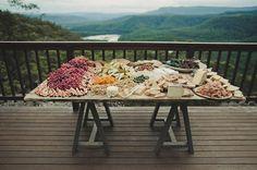 Australian Kangaroo Valley Wedding: Marissa + Alex - the best kind of wedding snacks table I've ever seen!