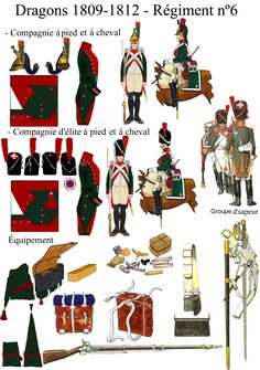6éme régiment de dragons 1805 a 1812 - france