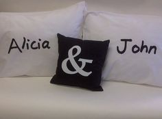 Customized Name Pillowcase Set Pillowcases, Bed Pillows, Sewing, Pillow Shams, Pillows, Pillow Case Dresses, Dressmaking, Pillow Covers, Couture