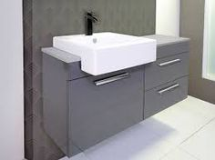Image result for semi inset basin vanity