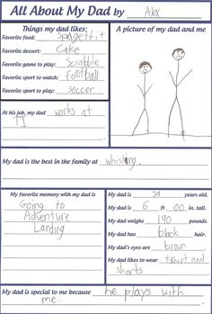 fathers+day+ideas+for+children | Have the kids fill out this Father's Day card for their dad @ Big D ...
