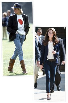 Princess Diana and Kate Middleton's Similar Style  Blazers and Jeans