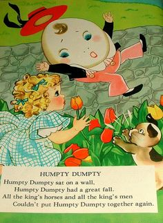 Page From Vintage Linen Nursery Rhymes Book | Flickr - Photo Sharing!
