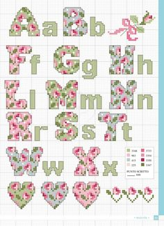 ru / Фото - Piccoli Motivi a Punto Croce Speciale 2012 2018 - Ch.ru / Фото – Piccoli Motivi a Punto Croce Speciale 2012 2018 – Chispitas - Cross Stitch Letter Patterns, Cat Cross Stitches, Cross Stitch Letters, Cross Stitch Boards, Cross Stitch Heart, Simple Cross Stitch, Cross Stitch Kits, Cross Stitching, Cross Stitch Embroidery
