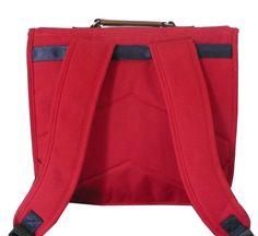 Image of cartable Vintage leçons de choses rouge bande marine CP CE1