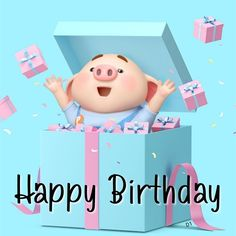 21 Ideas For Happy Birthday Wishes Cake Cute Happy Birthday Pig, Best Happy Birthday Message, Birthday Message To Myself, Happy Birthday Wishes Images, Happy Birthday Greetings, Pig Wallpaper, Happy Birthday Wallpaper, 3d Art, Cute Piggies
