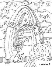 eating the alphabet coloring pages - photo#44
