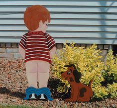 Boys Will Be Boys Woodcraft Pattern This little boy obviously just couldn't wait! #diy #woodcraftpatterns