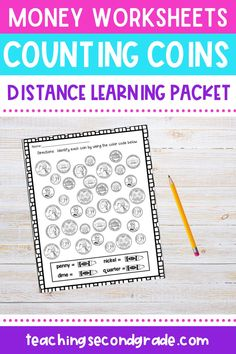 Use this 48 page resource with your 1st, 2nd, or 3rd grade classroom or home school students. These printable money worksheets are great for review, morning work, seat work, math centers or stations, homework, assessment, and more. Counting money will be a breeze. Students will identify coins, count coins, make amounts match, fill in a chart, balance amounts, match amounts, practice greater than and less than, and more! #secondgradeactiviites #countingmoney #mathworksheets Array Worksheets, Addition And Subtraction Worksheets, Money Worksheets, Counting Money Games, Counting Activities, Fact Family Worksheet, How To Get Credit, Early Math, Show Me The Money