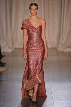 Marchesa Spring 2013 - beautiful use of exotic fabric prints in non-traditional garments