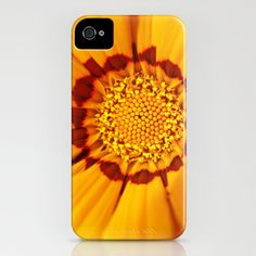 Orange Sun - gazania flower 3509 iPhone Case by bellpics - $35.00