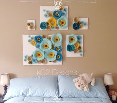 This is an adorable version of a paper flower wall! The 5 prices as shown can be mixed and matched in a number different ways to suit your style or needs. This item can be fully customized and can be