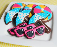 Beach Party Sugar Cookies by guiltyconfections on Etsy,