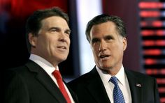A vulture no more: Rick Perry enthusiastically votes for Mitt Romney