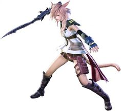 Square Enix has been releasing a ton of crazy updates for their Final Fantasy series. Final Fantasy Girls, Final Fantasy Xii, Fantasy Series, Realm Reborn, Creatures 3, Kingdom Hearts, Fantasy Characters, Lightning, Finals