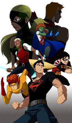 Young Justice: Artemis (Artemis Crock) Red Arrow (clone of Roy Harper) Miss Martian (Megan Morse) Aqualad (Kaldur) Kid Flash (Wally West) Robin (Dick Grayson) Superboy (Conner Kent). Has anyone noticed that aqualad is 10 times cooler than aquaman Nightwing, Batwoman, Young Justice League, Aqualad Young Justice, Artemis Young Justice, Kid Flash, Red Hood, Tim Drake, Red Robin