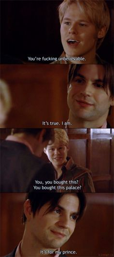 Justin Brian my favorite conversation from season 5 Showtime Tv Series, Bed Scene, Randy Harrison, Brian Kinney, Brian And Justin, Gale Harold, Queer As Folk, Cute Gay Couples, How To Apologize