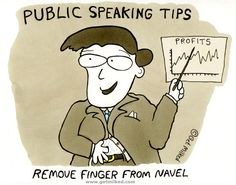 Public Speaking Tips: Remove Finger From Navel