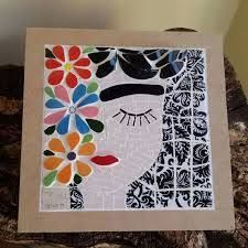 Resultado de imagen para mano de fatima mosaiquismo Mosaic Pots, Mosaic Garden, Mosaic Glass, Mosaic Tiles, Glass Art, Mosaic Artwork, Mosaic Wall Art, Mosaic Crafts, Mosaic Projects