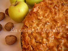 La cocina de Camilni: Pastel de manzana con crujiente de nuez