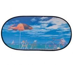 Sonnenschutz Heckscheibe selbsthaftend 100 x 50 cm Motiv Strandurlaub