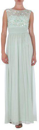 Pin for Later: 50 elegante, bodenlange Abendkleider unter 100 €  Mariposa elegantes Abendkleid mit Zierblüten und Zierperlen (ursprünglich 160 €, jetzt 80 €)