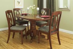 Home kitchen dining room furniture on pinterest side for Dining room table 36 x 48