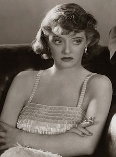 Bette Davis, 1937- I don't know who is the scariest old bitch, Joan or Bette (notice the parallel in Mad Men?) But I have always been Team Bette. So I hope that means I outlive my enemies.