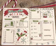 Bullet Journal Christmas, December Bullet Journal, Bullet Journal Monthly Spread, Bullet Journal Set Up, Bullet Journal Cover Page, Bullet Journal Writing, Bullet Journal Layout, Bullet Journal Ideas Pages, Bullet Journal Inspiration