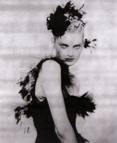 "b/w photoprint for ""Il Sogno,"" by Alice Gentilucci, supplement Vogue Italia, no. 547, March 1996"