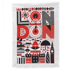 London tea towel from @TheGladsontes at www.pedlars.co.uk