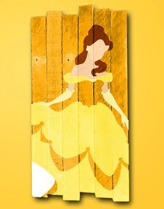 Belle painted wood sign / Disney / Princess / by MookieWoodArt Disney Princess Paintings, Disney Princess Crafts, Disney Princess Room, Girls Princess Room, Disney Diy, Disney Crafts, Arte Pallet, Pallet Art, Pallet Ideas
