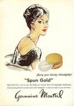 Old makeup ads. Vintage Makeup Ads, Retro Makeup, Vintage Beauty, Vintage Ads, Vintage Images, Vintage Posters, Vintage Stuff, Vintage Designs, Retro Advertising